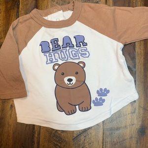 Quiltex Bear Hugs 3/4 sleeve jersey tee